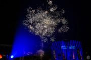 Spektakuläres Feuerwerk...