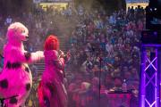 Mambuso und Blanche auf der Freilichtbühne